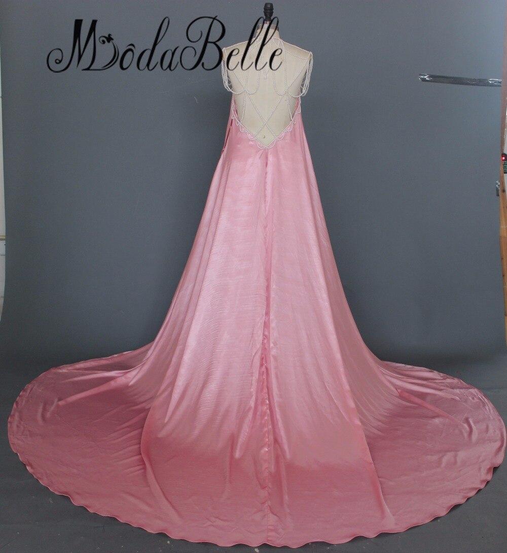 2017 Sexy dos nu perles maternité Maxi robe de soirée robes formelles longue enceinte robes de soirée accessoires de photographie séance Photo - 2