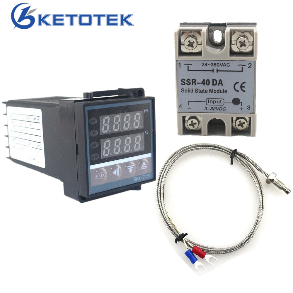 C100 Ssr Digital Temperature Controller Thermocouple Black Wiring To The Pid Rex Output 0 400c With 1m K 40a