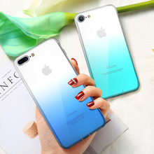 цена на Soft Silicone TPU Phone Case Cover For iPhone XR XS X Gradient TPU Case For iPhone 6S 6 7 8 Plus 8 5S 5 Se Capinhas Coque Fundas