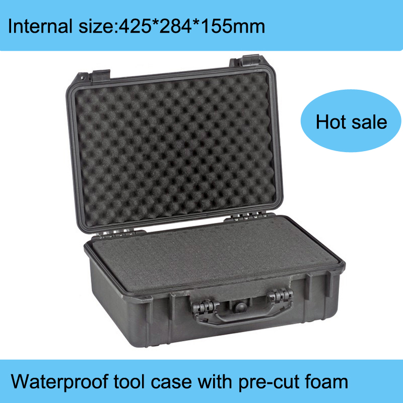 high quality Waterproof tool case  hard case Dustproof Protective toolbox Camera Case Instrument box with pre-cut foam MJ-138 waterproof tool hard case 371 258 152mm dustproof anti corrossion protective camera protective case instrument box mj 5018