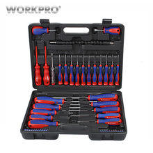WORKPRO  49PC Screwdriver Set 2019 New Arrival Screwdrivers Precision Screwdriver for Phone Test Pencil 07020026 8 in 1 slotted screwdrivers test pencil set blue silver