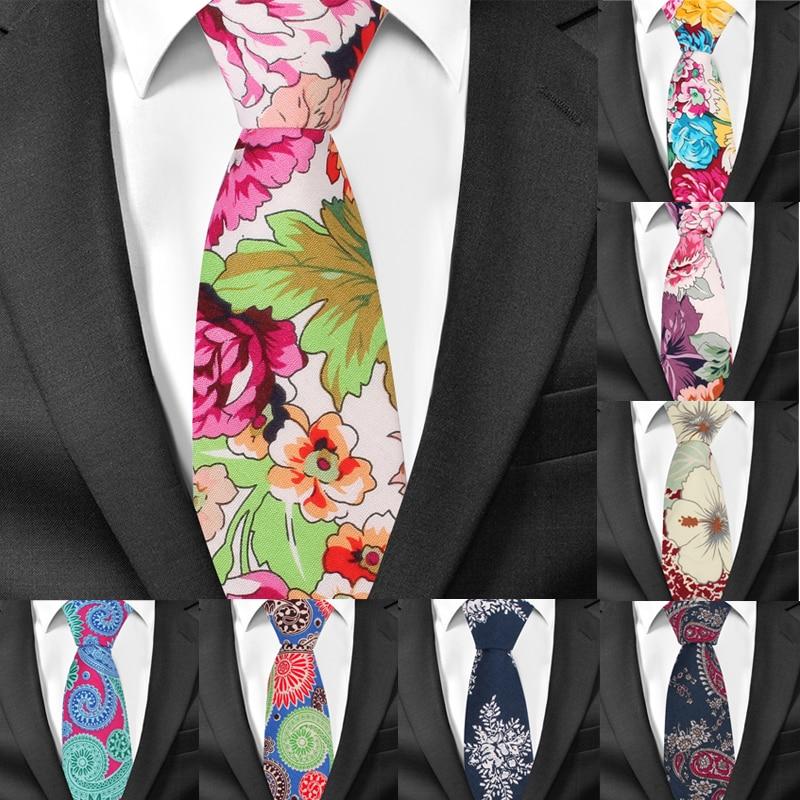 Fashion Print Cotton Neck Ties for