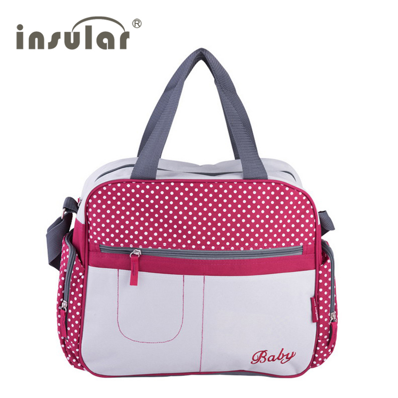 Stylish Dot Printing Diaper Bags Shoulder Messenger Multifunctional Mummy Big Stroller Bag Maternity Handbag Nappy Baby Bags
