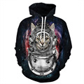 Nueva verano estilo brand clothing 3d impreso cat hoodies de los hombres de hip hop estilo de la calle sudadera trucksuit