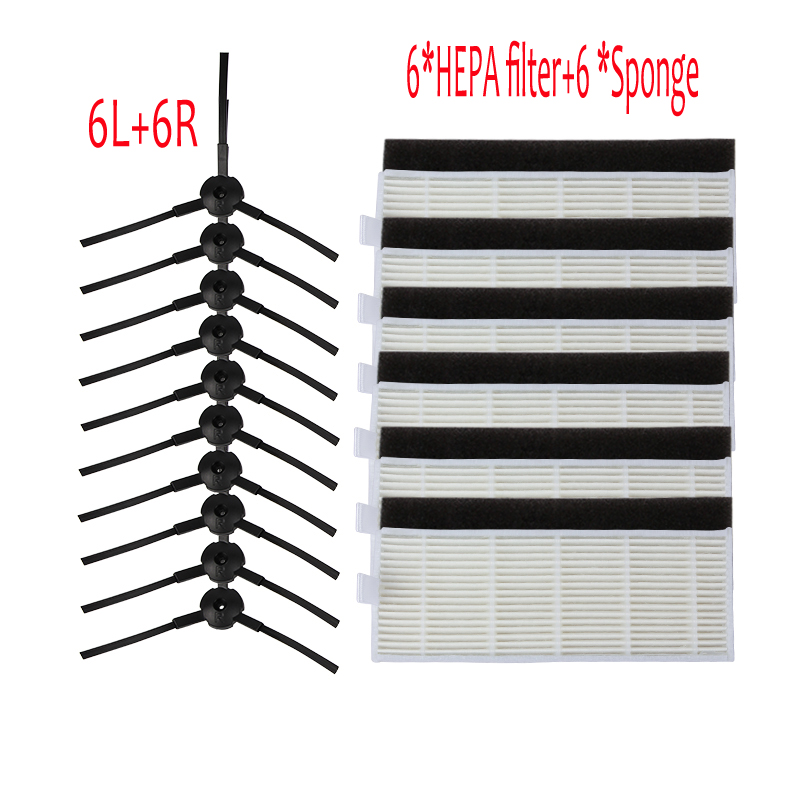 24pcs Set Brush Filters For Ilife A4 Filter Hepa Cleaner