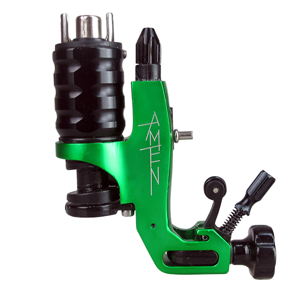 ФОТО Professional AMEN Brand New Green Stigma-Rotary AMEN Tattoo Machine For Shader and Liner Strong Power Quiet Voice Free Shipping