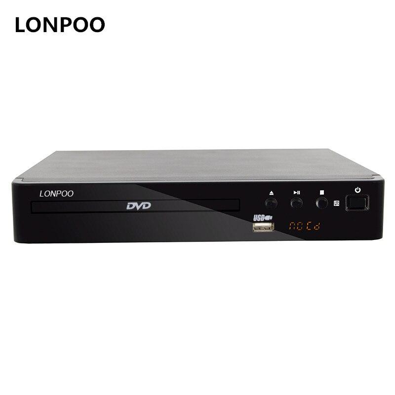 LONPOO Mini-USB RCA HDMI dvd-плеер области бесплатная несколько языков OSD DIVX DVD CD-плеер RW светодио дный Дисплей плеер DVD MP3