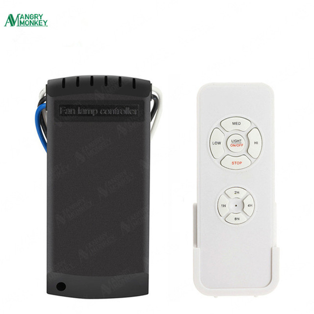 Universal Wireless Ceiling Fan Lamp Remote Controller Timing Function For Led Energy Saving Light