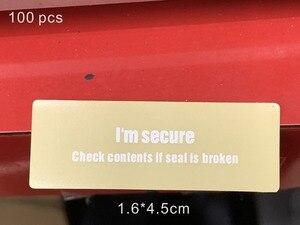 Image 1 - 100pcs/lot Phone Package box sealing strip for huawei Package Box Sealing Strip