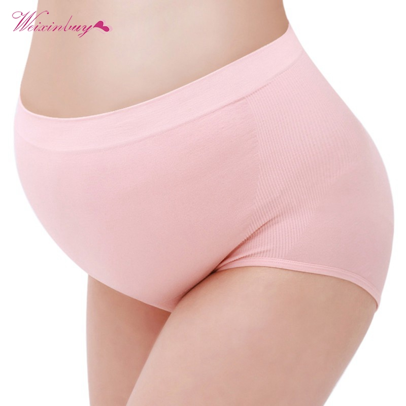 Maternity Underwear Panties Pregnant Clothing Plus Pregnancy Size Panties Waist Lingerie Clothes Briefs High Women For