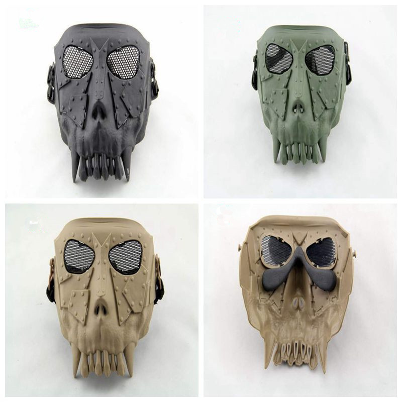 DC-02 Desert Corps Outdoor Tactical Mask War Game CS Paintball Safety Protection Full Face Skull for Halloween