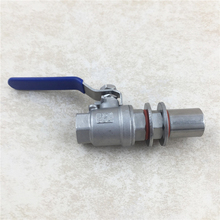 Stainless Steel Weldless Kettle Ball Valve kit , Beer brewing 1/2BSP with Bulkhead Brew Pipe Fittings