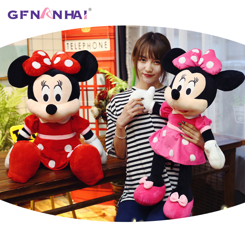1pc 100cm Super Giant Mickey Mouse Minnie Mouse Plush Toy Stuffed Plush Kid Pillow Soft Children Baby Lover Valentine's Gifts 1pc 35cm creative 3d mickey mouse and minnie mouse plush pillow kawaii mickey and minnie plush toys kids toys christmas gifts