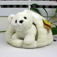 plush mini bear doll and big snow nest perfect polar bear toy gift toy about 31cm