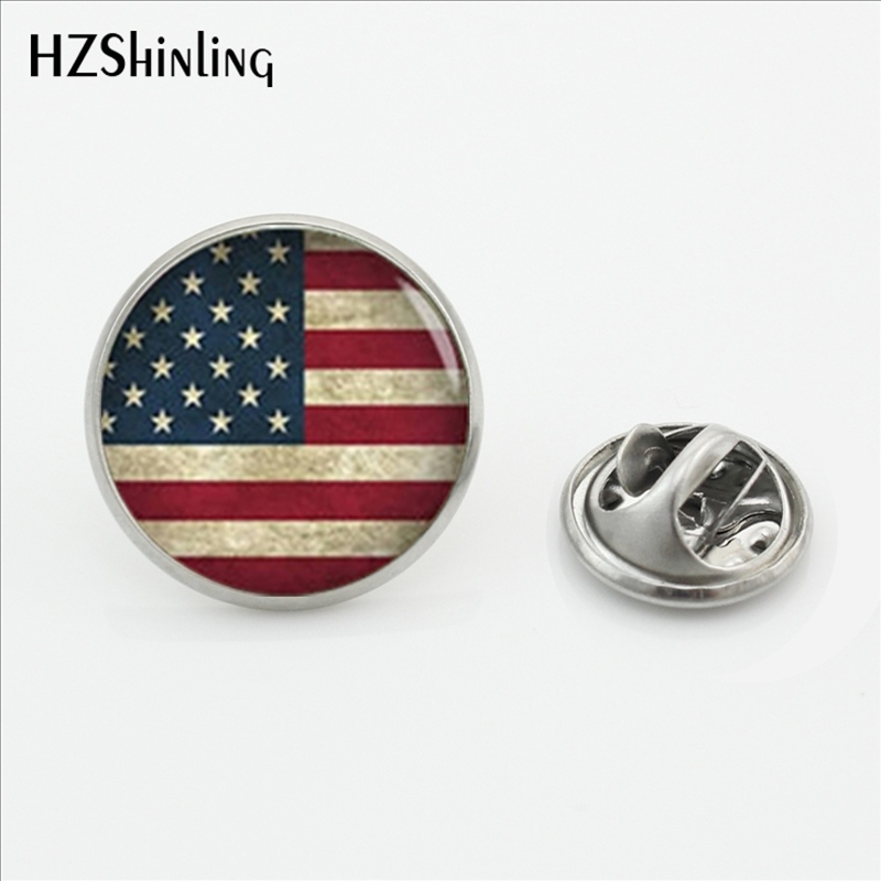 2017 New Fashion American Flag Butterfly Lapel Pins