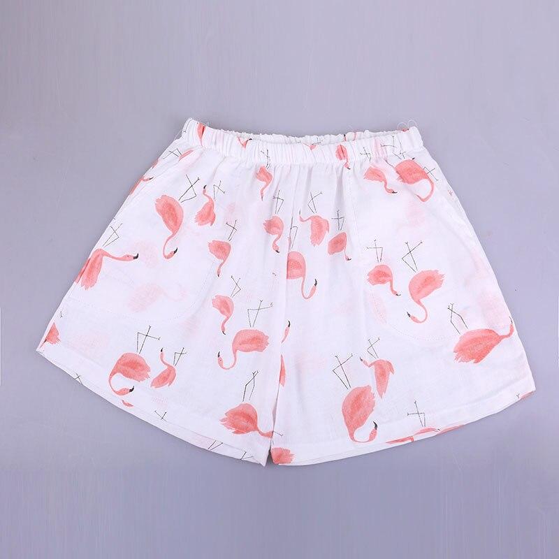 UNIKIWI. Милые летние хлопковые Пижамные шорты для сна, женские свободные пижамные штаны с эластичной резинкой на талии размера плюс M-XL отдыха. 21 цвет - Цвет: 005