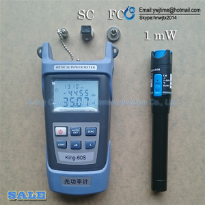 Image 1 - 2 In1 FTTH Fiber Optic Tool Kit Fiber Optical Power Meter  70 + 10dBm and 5km 1mW Visual Fault Locator Fiber optic test pen