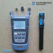 2 in1 kit de ferramentas de fibra óptica ftth medidor de potência de fibra óptica 70 + 10dbm e 5km 1mw localizador visual de falhas caneta de teste de fibra óptica