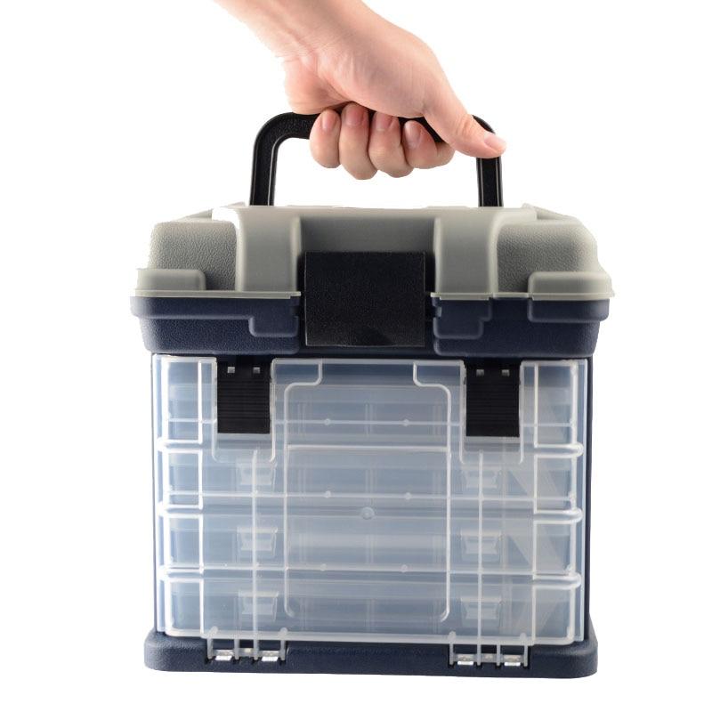 5 שכבה PP + ABS גדול קרס דיג קופסא פלסטיק ידית תיבת דיג קרפיון דיג כלים אביזרי דיג