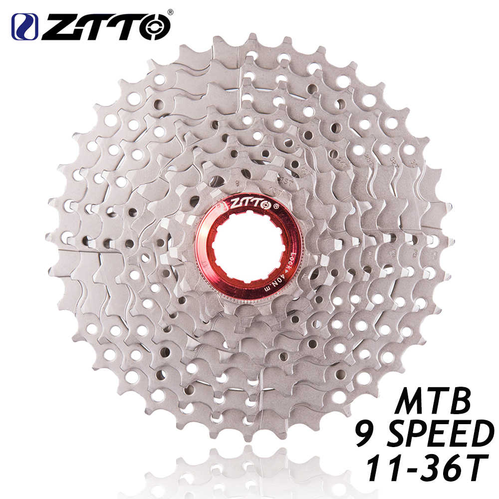 ZTTO MTB Mountain Bike Bicycle Parts 9 s 27 s Speed Freewheel Cassette 11-36T Compatible for Parts M370 M430 M4000 M590 M3000