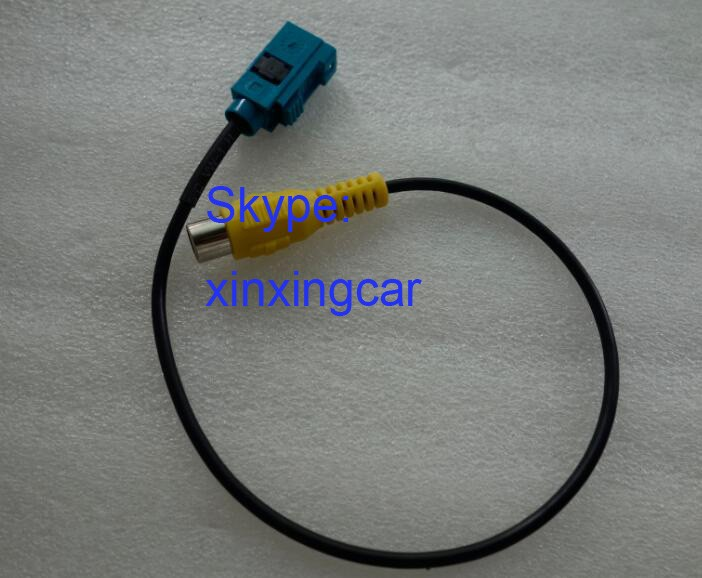 Free shipping 2PCS NEW AUDIO Video line Mercedes Reverse video input line / parking input cable FOR Mercedes VW AUDI
