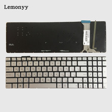 New Russian keyboard FOR ASUS N751 N751J N751JK N751JX with backlit RU laptop keyboard silver