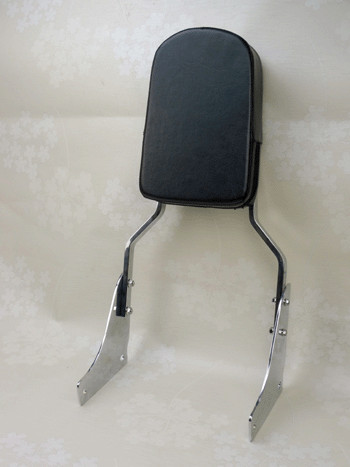 New For Honda ACE 1100 Flame Chorme Backrest Sissy Bar Padded Leather (All Years)