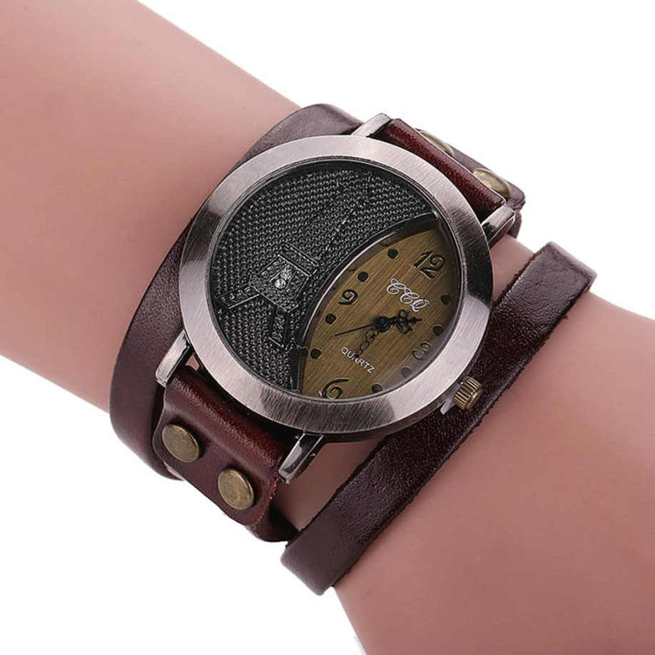 レロジオ Masculino Felojes CCQ 高級ブランドヴィンテージ牛革ブレスレット腕時計メンズレディース腕時計レディースドレスクォーツ時計