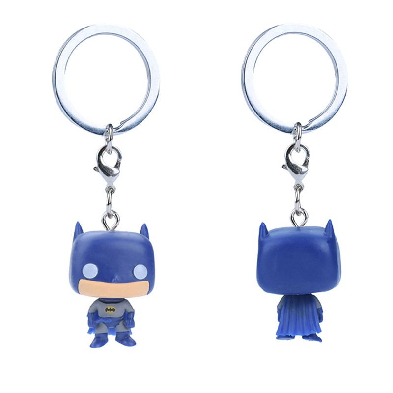 Car Jewelry Keychain Captain America Death Spiderman Cartoon Character Key Ring in Key Rings from Automobiles Motorcycles