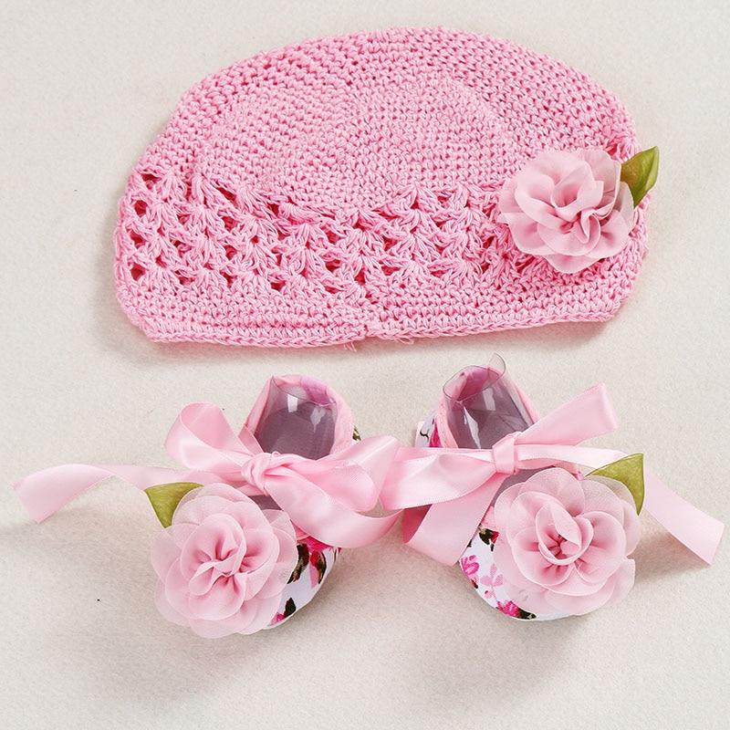 Baby Girls Infant Newborn Knit Handmade Foot Flower Shoes Socks Photo Props