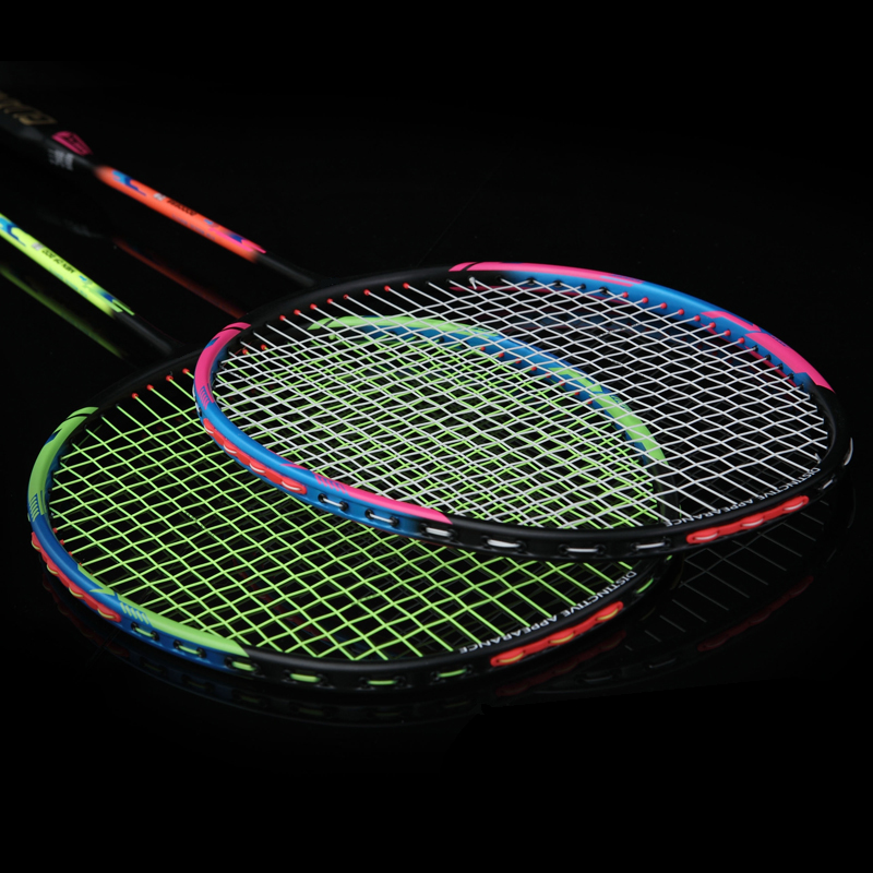 LOKI High Quality 6U 72g Couples Badminton Racket Super Light Offensive Carbon Badminton Racquet for Lovers 22-30 LBS