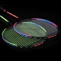 LOKI High Quality 6U 72g Couples Badminton Racket Super Light Offensive Carbon Badminton Racquet for Lovers 22 30 LBS