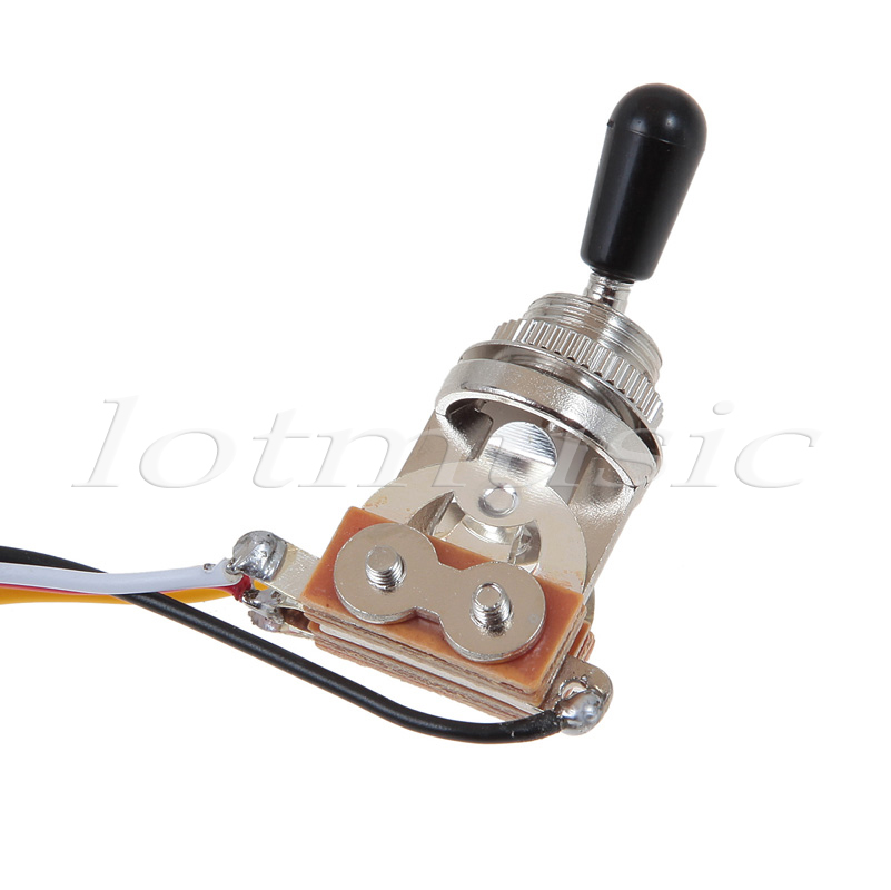 One set of electric guitar wiring harness 3 way 2v1t 500k open one set of electric guitar wiring harness 3 way 2v1t 500k open toggle switch with mounting nut and switch tip and cap in guitar parts accessories from cheapraybanclubmaster Images