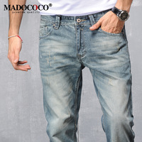 2016 Brand New Cotton Retro Mens Robin Jeans High Quality Light Blue Designer Jeans For Man