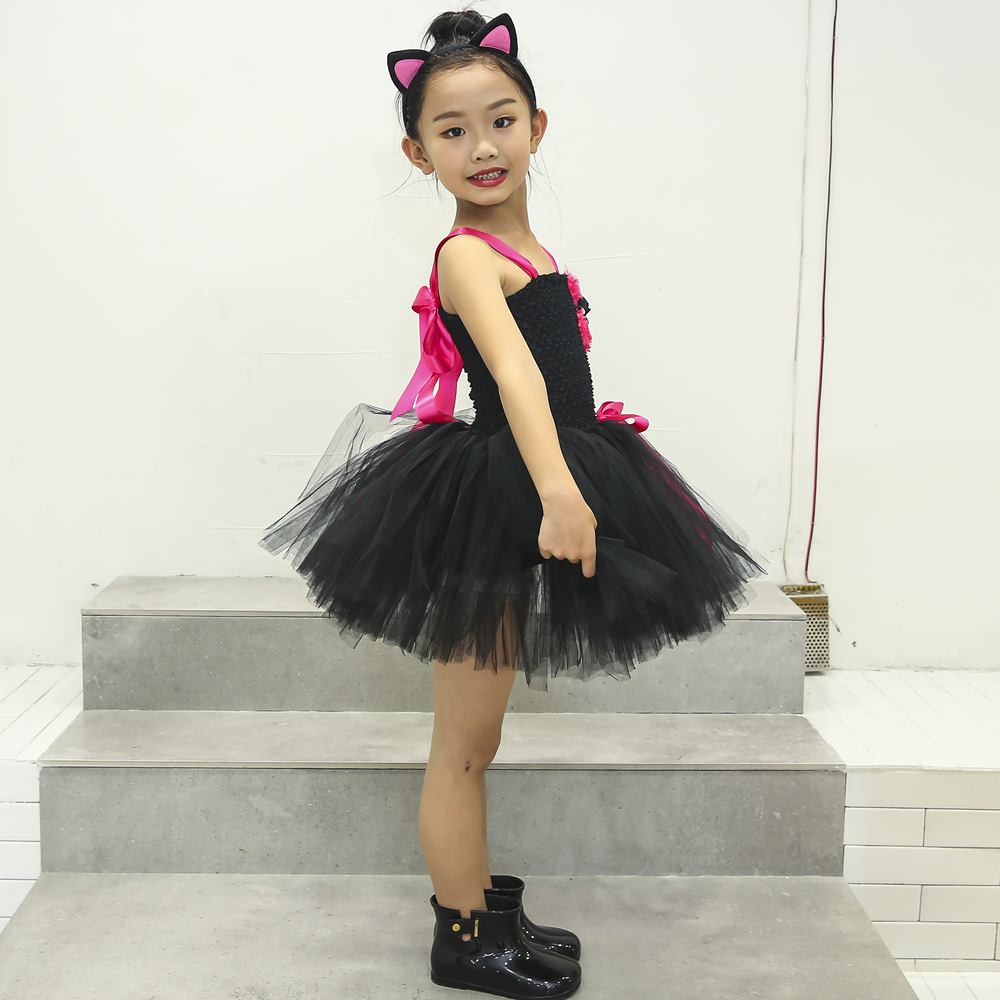 f5f4899259 Detail Feedback Questions about Black Cat Girls Tutu Dress With ...