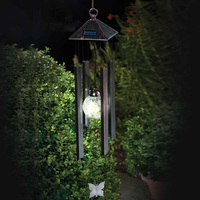 New Arrivals Garden Windchimes Garden Yard Decoration Solar Light Hanging Wind Chimes Solar Powered Color Changing LED Light