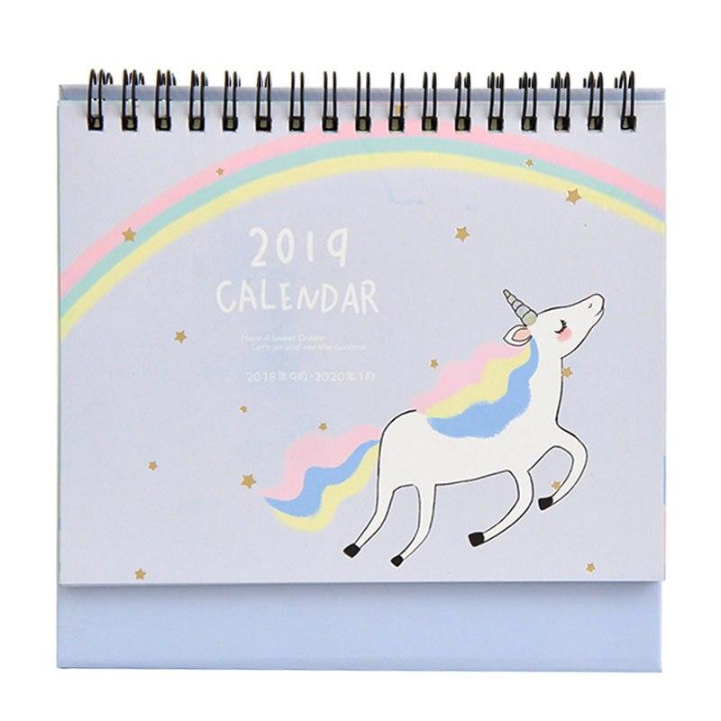 Calendario Rainbow.R 18 74 2019 Rainbow Unicorn Escrita Diy Calendario De Mesa Calendario Diario Agenda Organizador Planejador Agenda Escritorio Escola Suprimentos