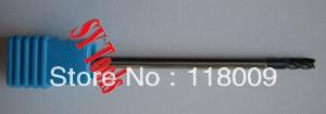Free shipping - 5pcs 4mm Four Flutes(long) Spiral Bit Milling Tools Carbide CNC Endmill Router bits hrc60 D4*15*D4*75  цены