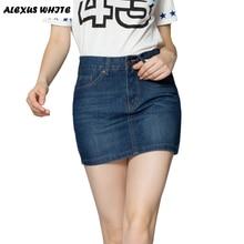 All-match Waisted Jeans Summer Women's 2016 Fashion Denim Skirt Pencil Mini Skirts for Woman Skater Falda Femininas