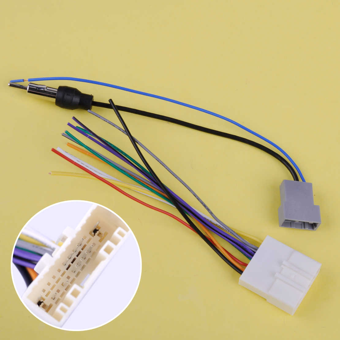 DWCX Car DVD Radio Install Stereo Wire Harness Cable Plugs Antenna Nissan An Dvd Wiring Harness on