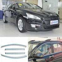 4pcs New Smoked Clear Window Vent Shade Visor Wind Deflectors For Peugeot 508