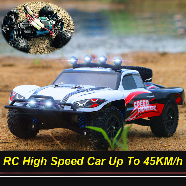 RC Car 4WD 45km/h Full Proportion High Speed Drift 2.4G Monster Truck Remote Control BigFoot Buggy Off-Road SUV Electronic Toys 4