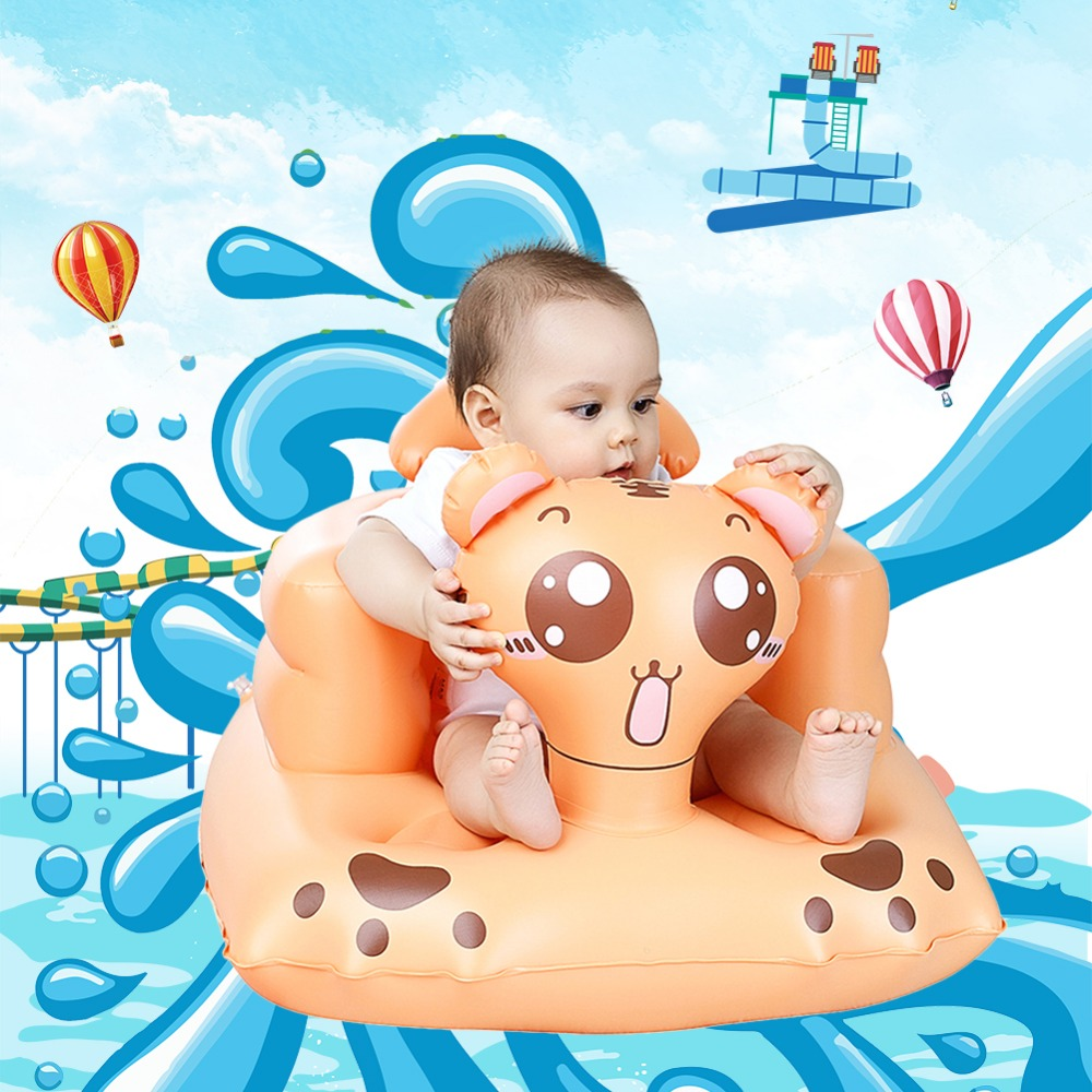 Cartoon Multifunctional Baby Seat Inflatable Chair Sofa Bath Seats Dining Pushchair Infant Portable Bath Stool For Babies lazybaby blooming bath baby bath sink bath for babies infant flower mat spar 8 colors