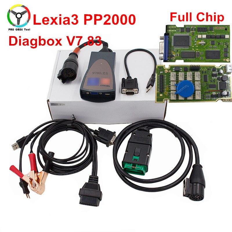 Neueste Volle Chip Lexia 3 PP2000 Diagbox 7,83 Professionelle OBD2 Auto Scanner Volle Funktion Lexia3 Diagnose Scanner DHL Verschiffen