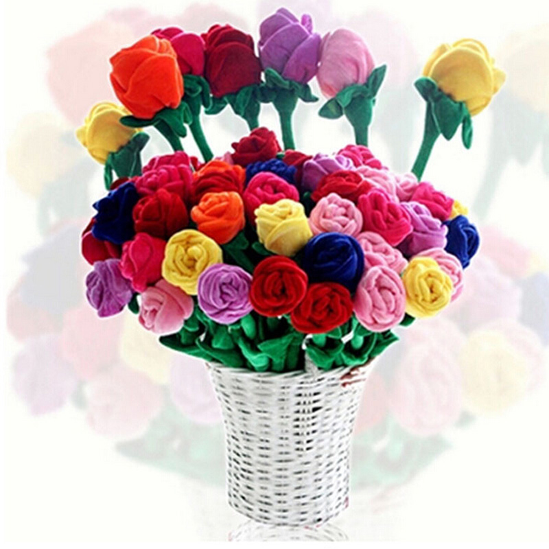 New plush toys simulation rose bouquet <font><b>doll</b></font> creative curtain buckle decorated celebration gift toys image