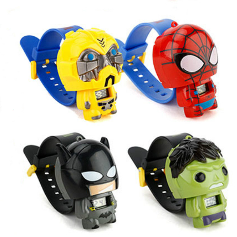 N0004 Kids Watches Nijago Hulkbuster Iron Man Spiderman Toy For Children Watch Girl Boy