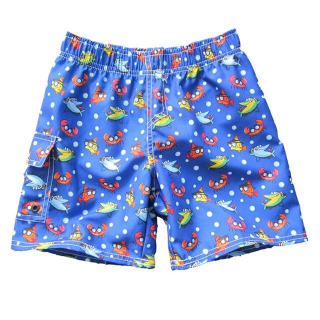 Crianças meninos board shorts peixes dos desenhos animados imprimir meninos  calções de verão meninos casuais calções 7d523117cc8ad