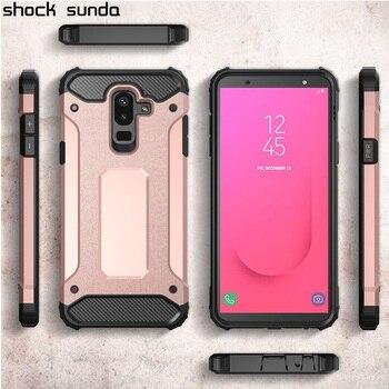 Shock Sunda Luxury Silicone Case For Samsung Galaxy J8 2018  Case Cover Shockproof Hard Armor Mobile Phone Bag Coque Capa Funda дамски часовници розово злато
