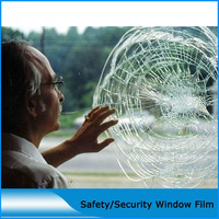 1m x 15m 4mil Safety Security Film Splash Prevention Effect Protective PET Vinyl Film for Car Home Office Window Clear Glasses|  -