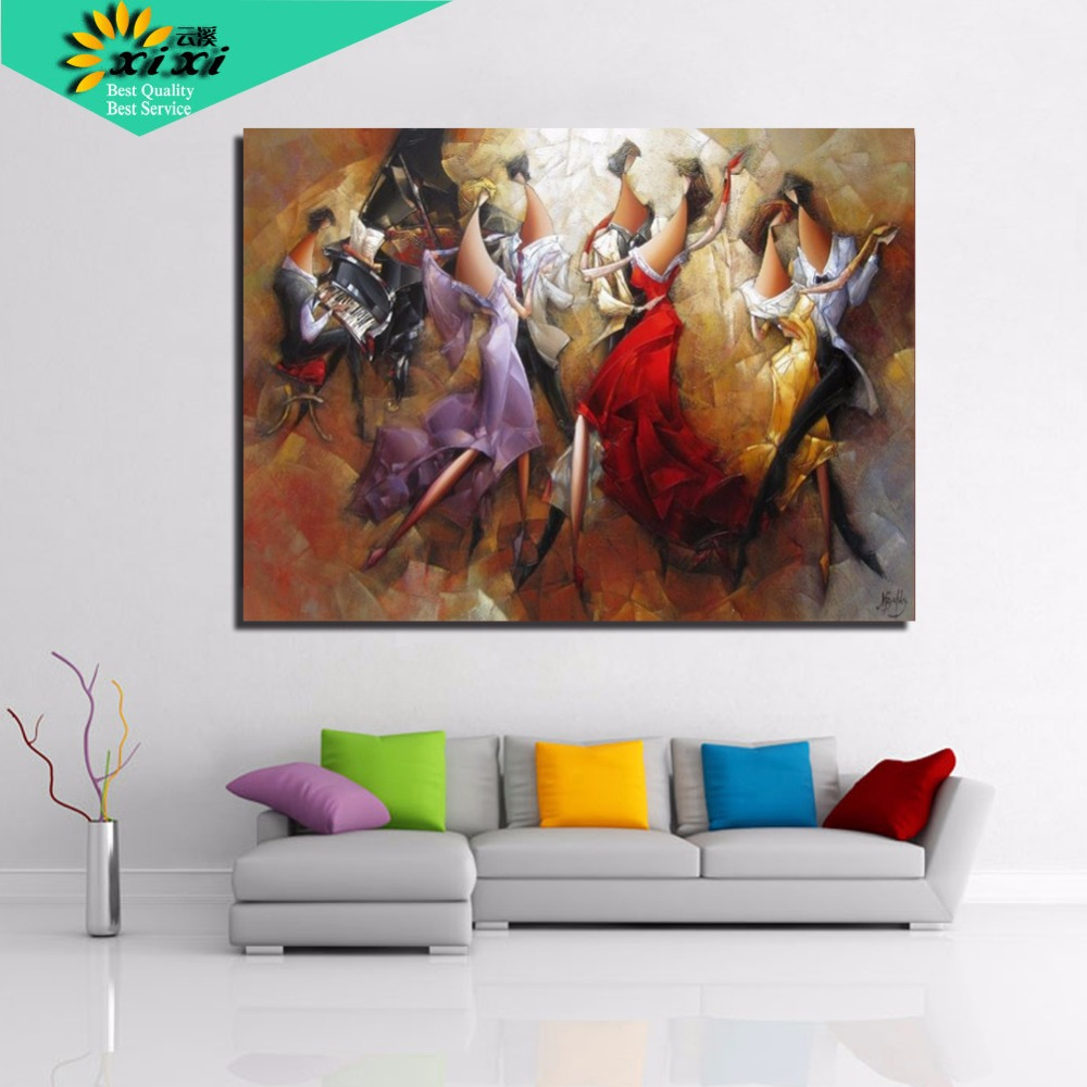 Xixi art abstract oil paintings coloring 40 50 picture for Odd home decor items